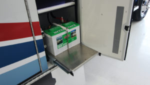 Optional Slide Out Battery Tray
